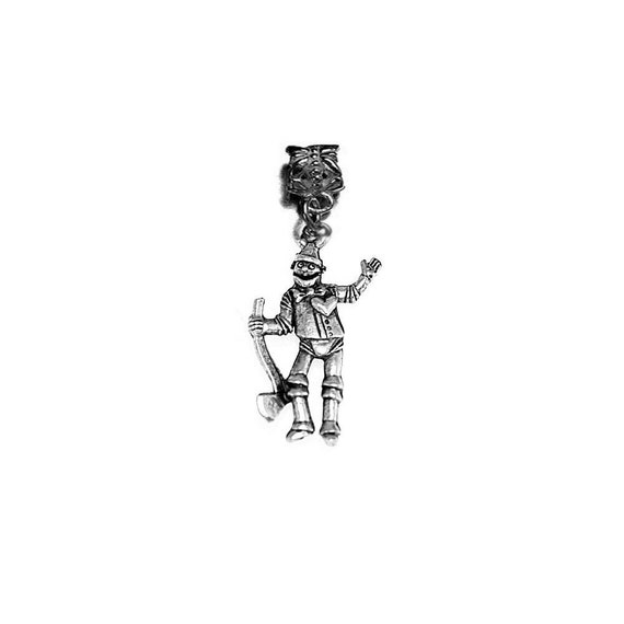 Eruopean bead tin man wizard of oz authentic sterling silver charm