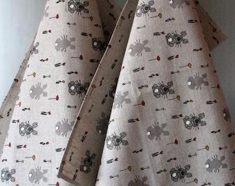 Linen Cotton Dish Towels Hare Eggs Tea Towels  Nature Tea Towels set of 2