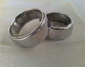 Pair of Aluminum rings - Sizes 8 & 10 1/2