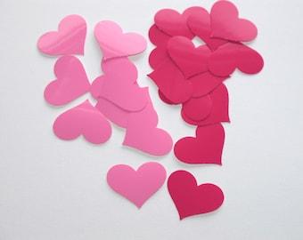 Pretty Pink and Bright Magenta Heart Sticker Mix