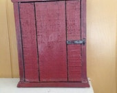 Cupboard Salvaged Barnwood Red Wall Cabinet Handmade