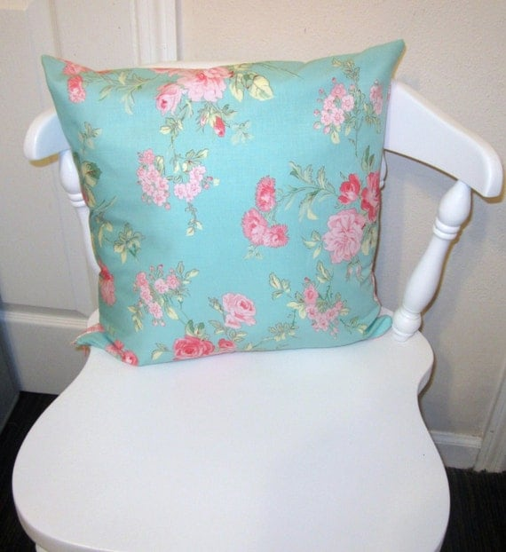 Large Shabby Chic Throw Pillows : Shabby Chic Rose Throw Pillow Cover 16 X 16 with Invisible