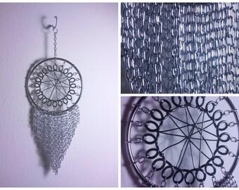 Silver Chain Dream Catcher - Handmade - 3 Inches
