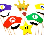 Video Game Themed Photo Booth Props - Set of 11 Props
