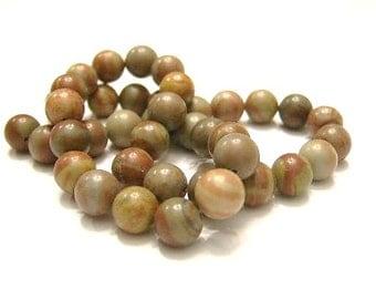 1 Strand 8 mm Red Jasper,  Round Stone Beads, Natural Stone 49 Beads