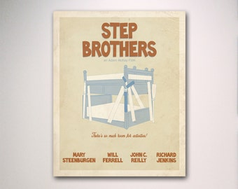 Step Brothers Inspired Minimalist Movie Poster / Minimalist Movie Poster / Wall Art