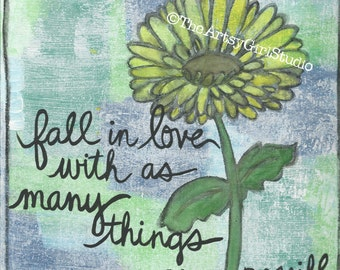Fall in love - 8x8 Art Print