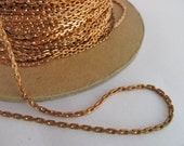 10 Ft Vintage Brass 4x2mm Fine Square Link Cable Chain Ch239