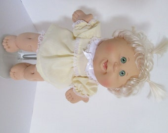 """14"""" Baby Cabbage Patch Yellow Dress Set"""