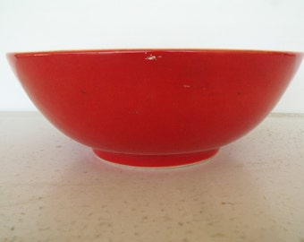 """8"""" Red Bowl Pottery Universal Cambridge OH"""