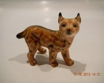 It's a lynx, methynx...Vintage Goebel wild cat figurine porcelain, Germany