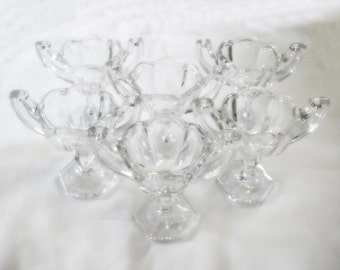 Antique Salt Cellars - Chippendale - Set of Six - Large Size - 1920s - Central Glass Works