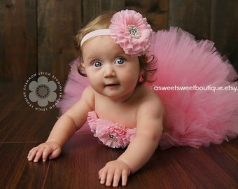 Sweet Glam Baby 3 Piece Set Includes Tutu, Headband, And Tutu Top A Sweet Sweet Boutique ORIGINAL DESIGN