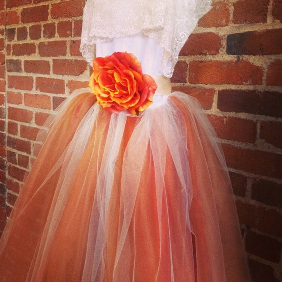 burnt orange flower girl tutu dress with lace by chachalouise. Black Bedroom Furniture Sets. Home Design Ideas
