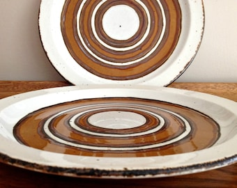 Earth Dinnerware Midwinter Stonehenge Pottery 2 Dinner Plates