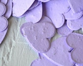 SALE - Lavender Heart Wildflower Seed Paper Confetti, Wedding Favor