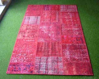 Patchwork rug Red 47
