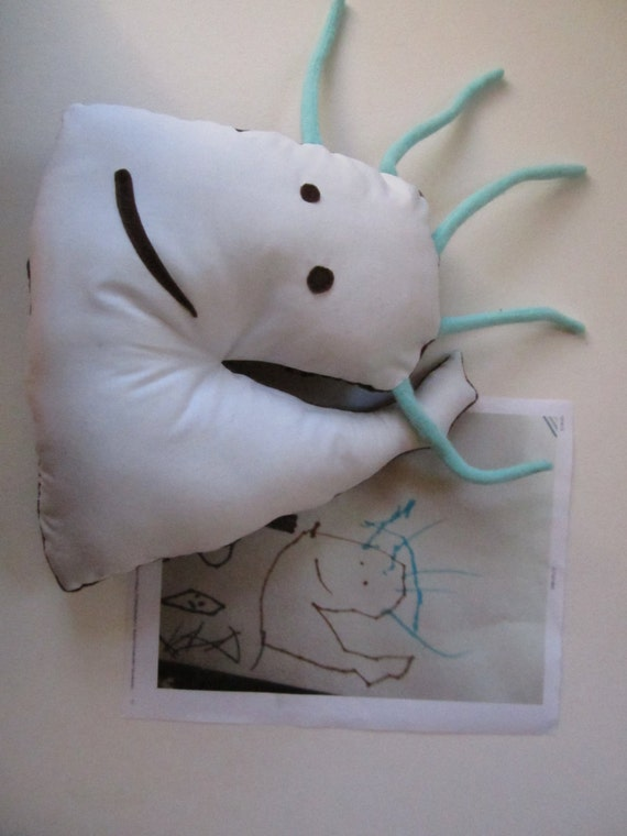 Custom softies, stuffed dolls and animals made from children's drawings - lower price range