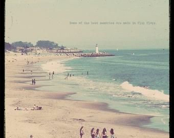 Beach Lover, Ttv Photo, Lighthouse Print, Lighthouse Photo, Santa Cruz Beach, Beach Print, Seaside Art, Beach House Art, Beach Gift