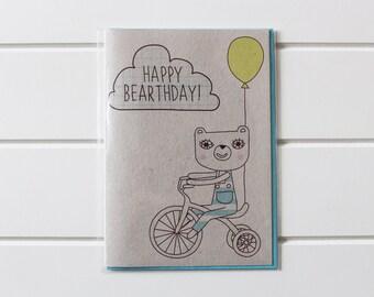 Greetings Card - Happy Bearthday