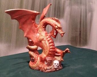Treasure Dragon, Collectible Dragon, Fantasy Dragon, Renaissance Dragon, Doc Holliday, Ready to paint,Ceramic Bisque,  U-paint
