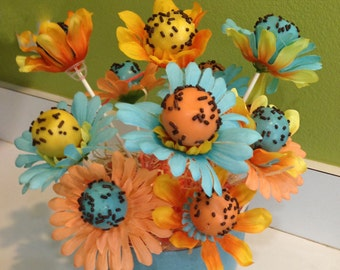 CAKE POPS Shaped as Flowers, Flower Cake Pops, Cake Pops