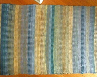 Made to Order - Hand Woven Rag Rug - Pick and Pick Pattern