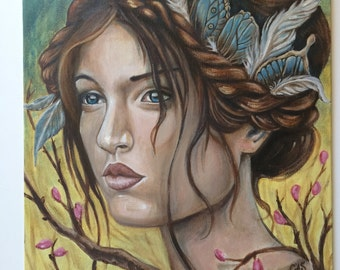 Whispers in the Wind, Original Oil Painting