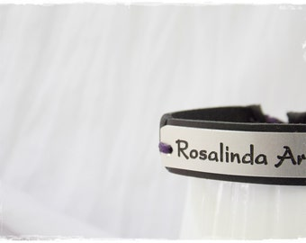 Engraved Leather Bracelet, Personalized Bracelet, Name Leather Bracelet, Quote Leather Bracelet, ID Medical Leather Bracelet, Engraved Cuff