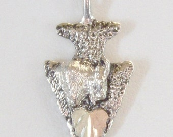 Whitaker's Black Hills Gold on Silver Mt Goat Arrowhead Pendant