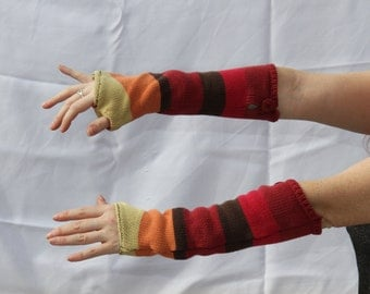 Armwarmers made from a sweater-vest