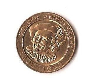 Falstaff Beer Anniversary Coin 1903-1953