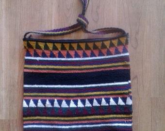 Woven ethnic multi coloured bag