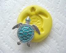 Ornamental Turtle mold flexible silicone mold for cookies, ice, fondant, jewelry making, FIMO, Sculpey, wax etc.