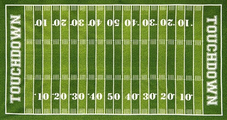 Decisive image intended for printable football field