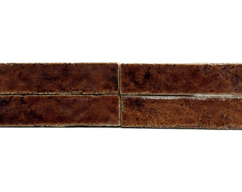 Brown ceramic accent tile