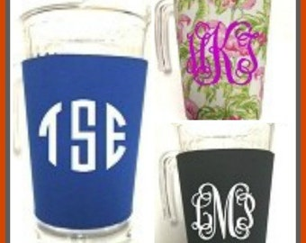 Acrylic Pitcher with Neoprene Sleeve Personalized