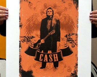 Hand Pulled Limited Edition Johnny Cash Screen Print