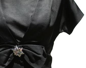 Vintage Black Silk Dress