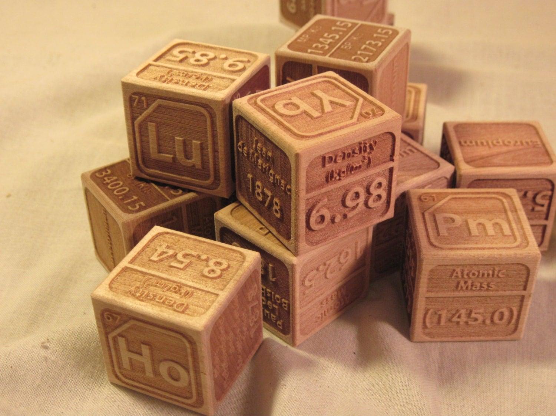 Element block wallskid periodic table of the elements wooden blocks set 118 gamestrikefo Choice Image