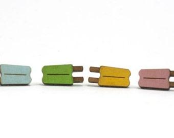 Popsicle Earrings - Handmade - Laser Cut - Laser Cut Jewelry - Summer