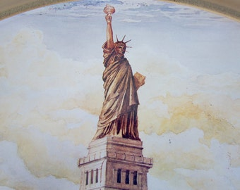 tin extra large 1980s Statue of Liberty, Liberty Bell limited edition