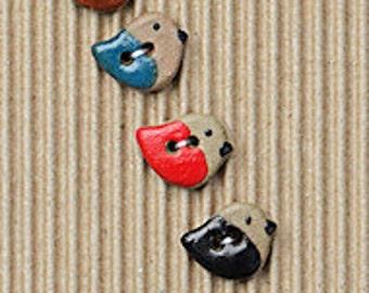 Little Multi Coloured Bird Buttons