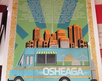 Osheaga 2014 Poster - 18 x 24  Limited Edition Screenprint
