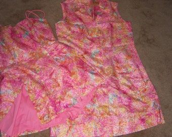 1950 Vintage Sun Suit with Matching Shift Cover-Up