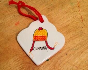 SALE Cunning Ornament Porcelain Handdrawn Hat