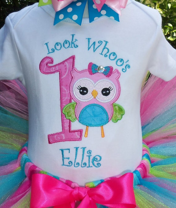 Items Similar To Sweet Owl Birthday-Shirt Only On Etsy