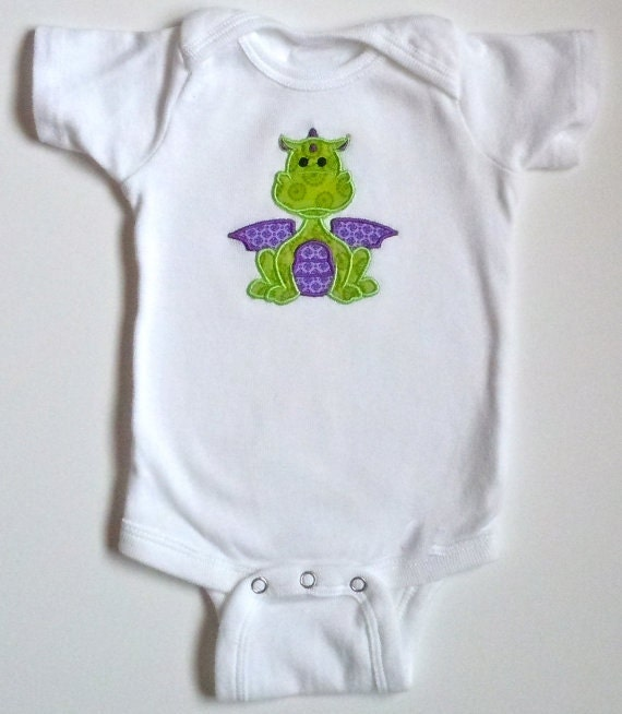 Baby Dragon Personalized Bodysuit