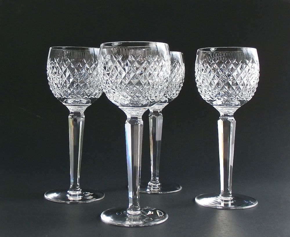 Vintage waterford crystal wine glasses alana by dairyfarmantiques - Wedgwood crystal wine glasses ...