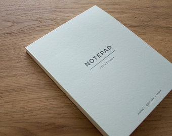 Powder Green Letterpress Notepad